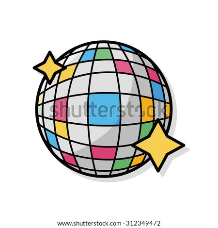 party ball doodle - stock vector