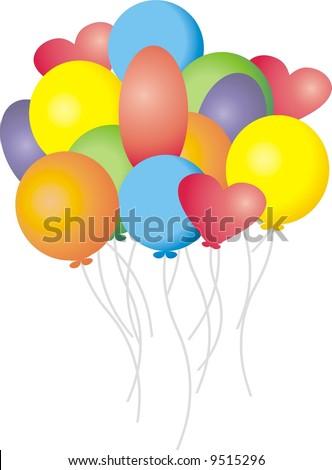 Party balloons - stock vector