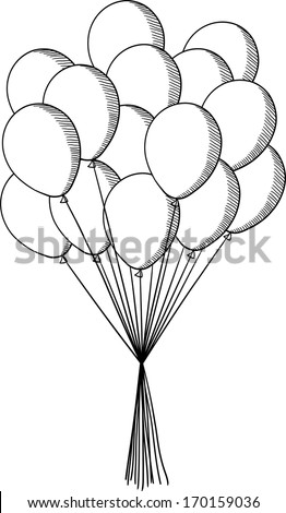 Coloring Page Bunch Of Balloons Coloring Pages