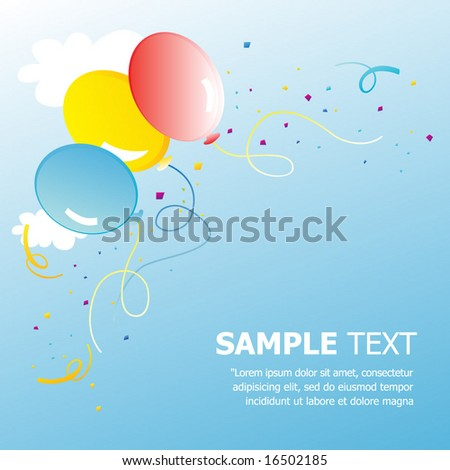 Party Balloons with Confetti. Vector. For more illustrations VISIT MY GALLERY. - stock vector