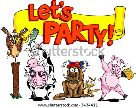 party banner - stock vector