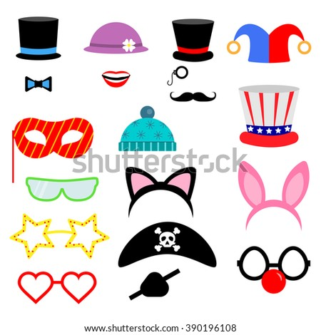photo booth props vector