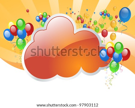 Party Border - stock vector