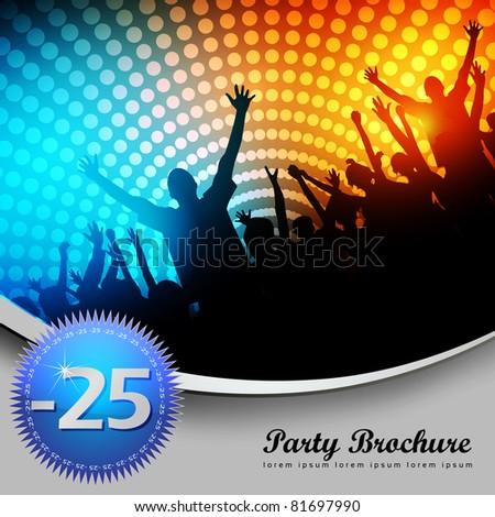 Party Brochure Template - EPS10 Vector Design - stock vector