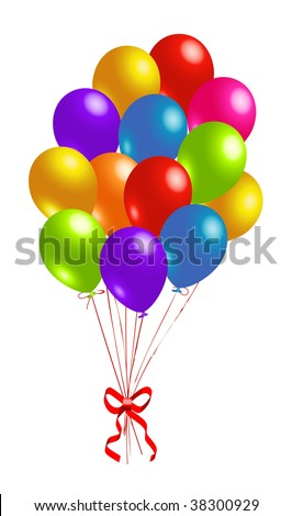 Party colorful balloons