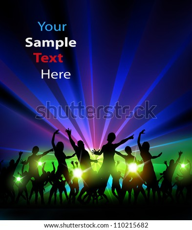 Party Design Illustration, easy editable - stock vector