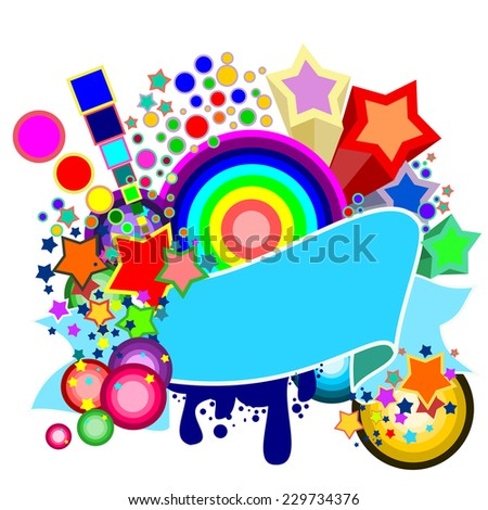 Party design template with place for text. vector - stock vector