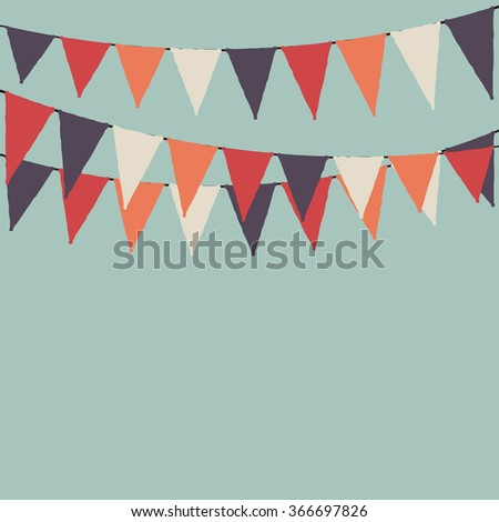 Party flags. Party background with flags. Vector background. - stock vector