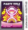 Party flyer card template design - stock vector