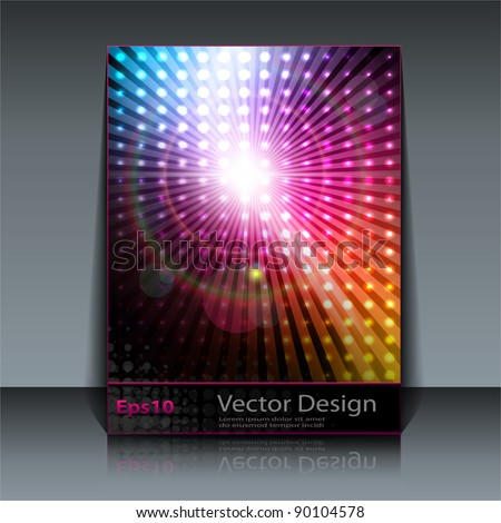 Party Flyer design - vector background