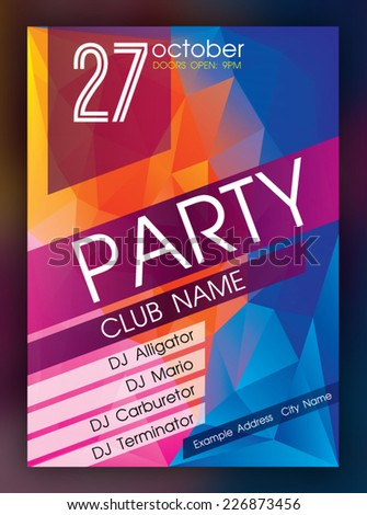 Nightclub Flyer Stock Images, Royalty-Free Images & Vectors