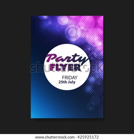 Party Flyer or Cover Design - stock vector