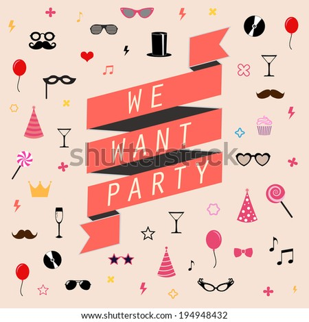 party flyer vector background Perfect templates for your design, banner, flyer, cards. - stock vector