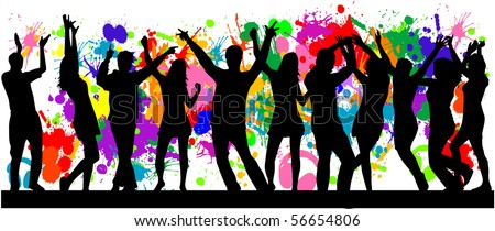 Party- grunge background - stock vector
