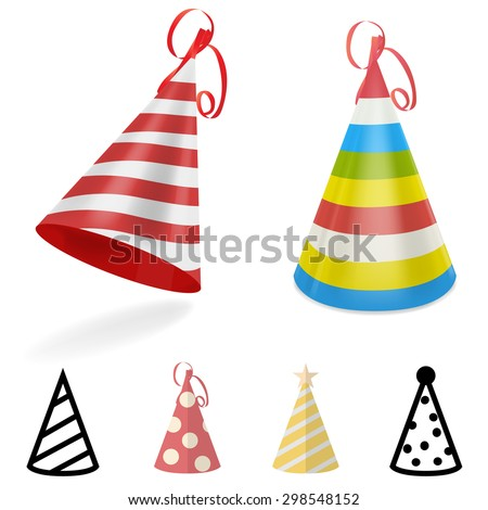Party hat - stock vector