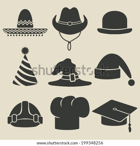 party hat icon - vector illustration. eps 8 - stock vector