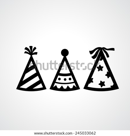 Party hat icons vector - stock vector