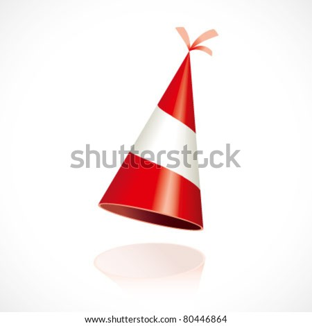 Party hat with Austria flag - stock vector