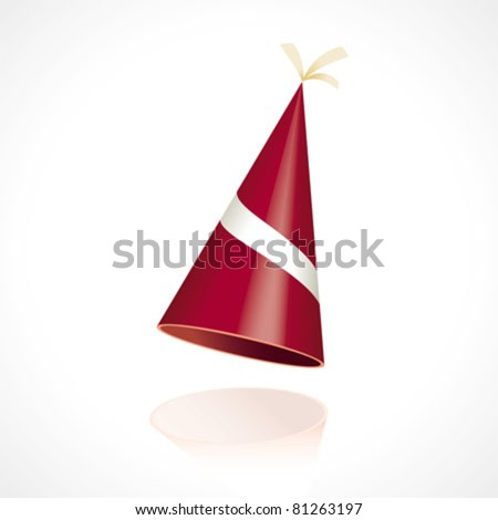 Party hat with the flag from Latvia - stock vector