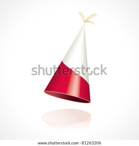 Party hat with the flag from Poland - stock vector