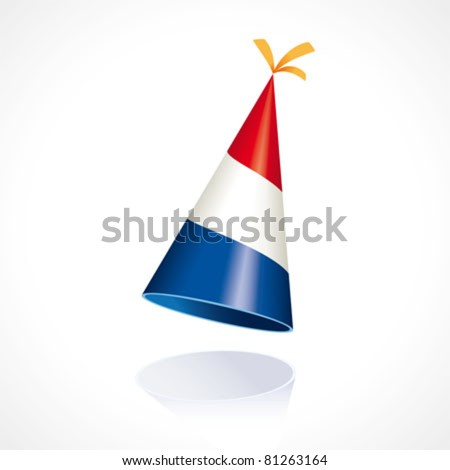 Party hat with the flag from The Netherlands - stock vector