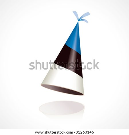 Party hat with the flag of Estonia - stock vector