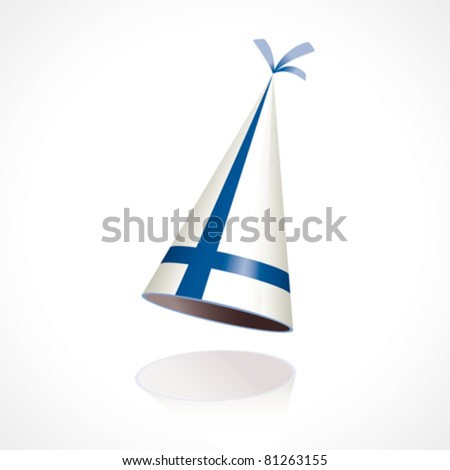 Party hat with the flag of Finland - stock vector