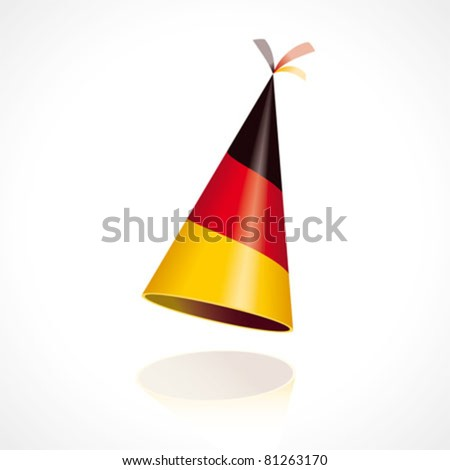 Party hat with the flag of Germany - stock vector