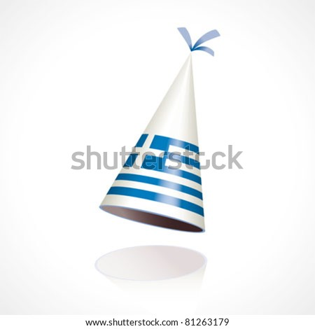 Party hat with the flag of Greece - stock vector