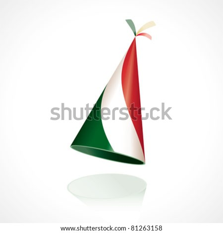 Party hat with the flag of Italy - stock vector
