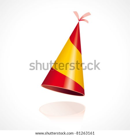 Party hat with the flag of Spain. Ole! - stock vector