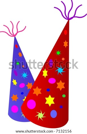 Party hats - stock vector