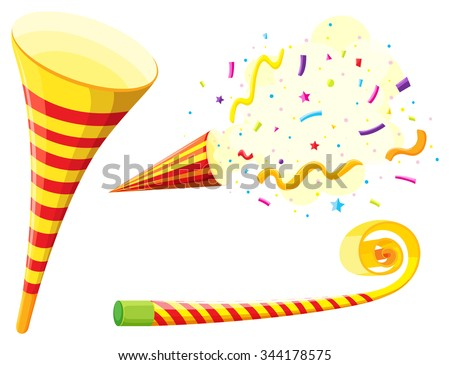 Party Horn And Blowing Instrument Illustration