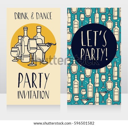 Party Invitation Templates Can Be Used Stock Vector 596501582