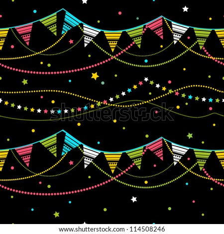 party pennant bunting. party seamless background - stock vector