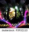 Party people at disco party - stock vector