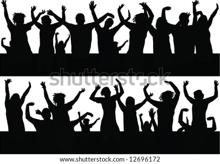 party people silhouette - stock vector