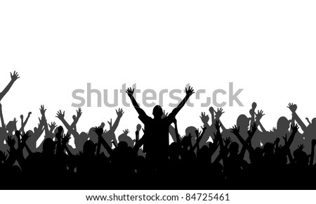 Party People Silhouettes - Vector Background - stock vector