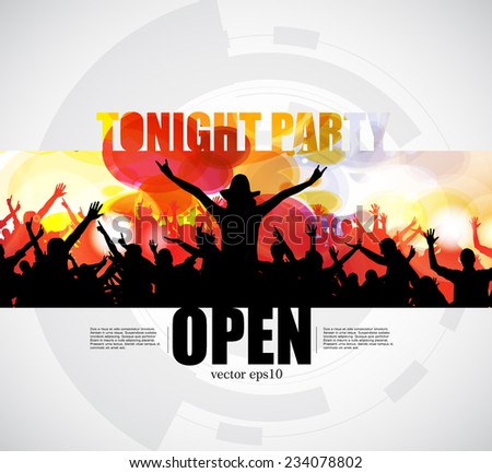 Party poster. Vector - stock vector