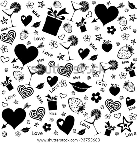 Party seamless pattern. Vector Illustration