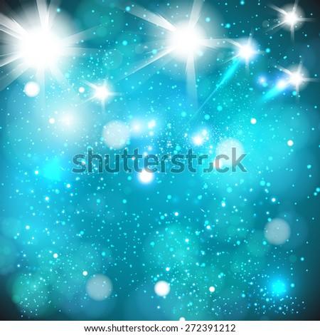 party spotlight background, easy editable - stock vector