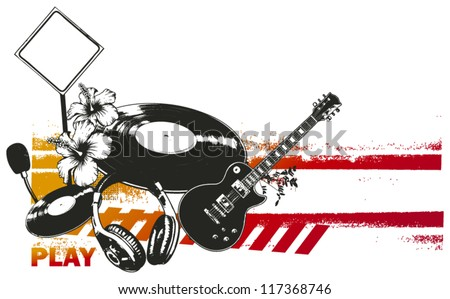 party summer scene - stock vector