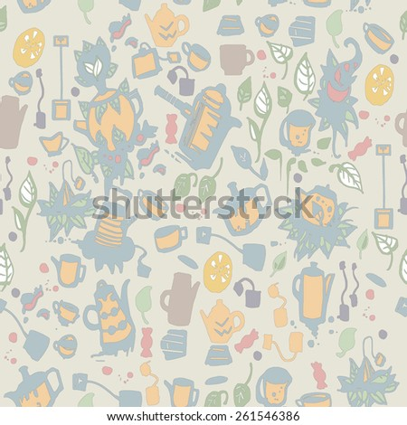 Party Tea time background texture design for wallpaper and illustration. - stock vector
