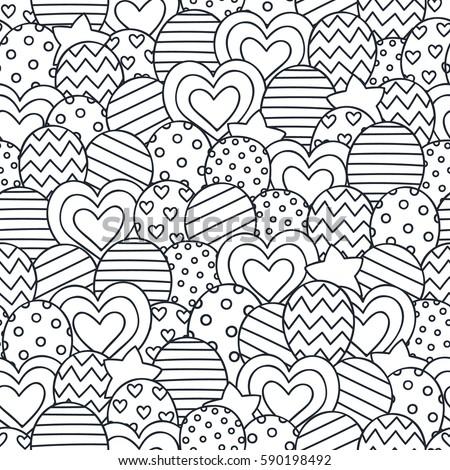 christmas jar vector hand drawn jar stock vector 483750478 ... - Coloring Pages Hearts Stars