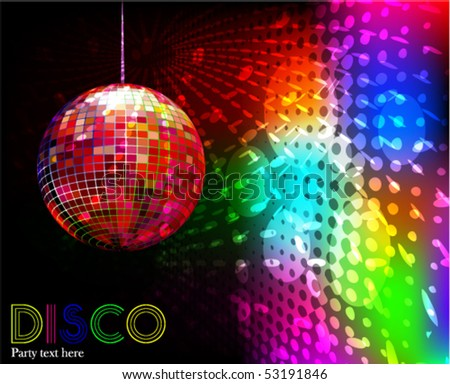 party - vector background - stock vector