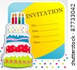 party vector invitation - stock vector