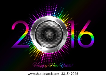 Party - vector 2016 New Year background - stock vector