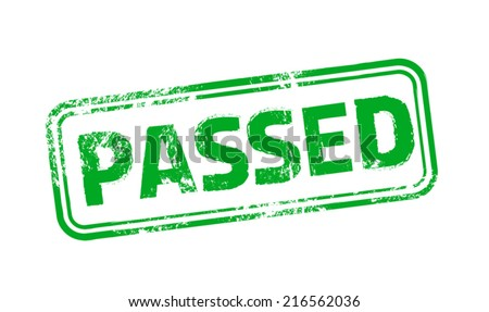 Passed Vector Stamp - stock vector
