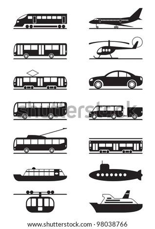 Passenger and public transportation - vector illustration - stock vector
