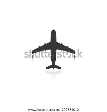 passenger plane icon. vector. eps10 - stock vector